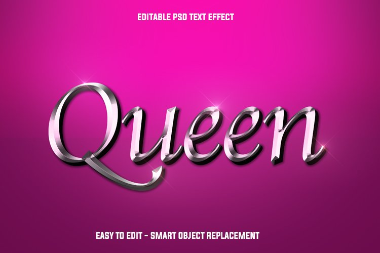 silver queen text effect example image 1