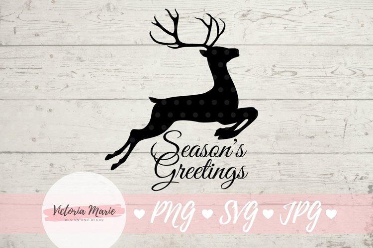 Seasons Greetings svg, Reindeer svg, Deer svg, Christmas svg
