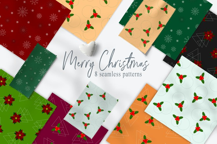Set of Christmas patterns example image 1