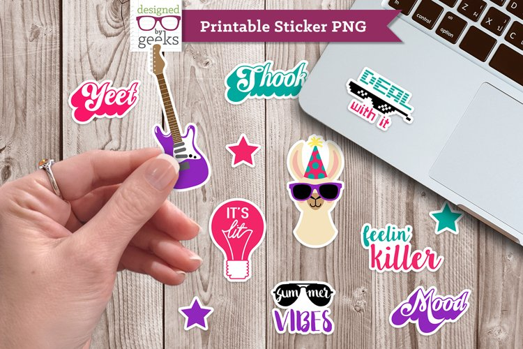 Party All the Time Printable Sticker PNG File
