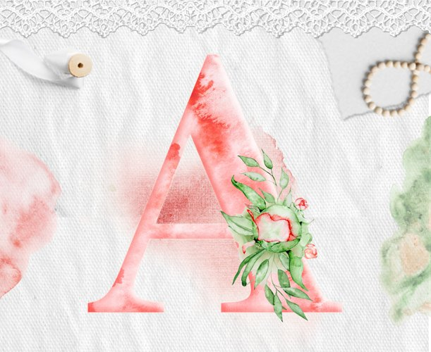 Alphabet Watercolor Clipart - Free Design of The Week Design2
