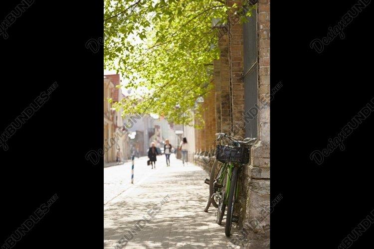 Street in Tallinn at spring example image 1