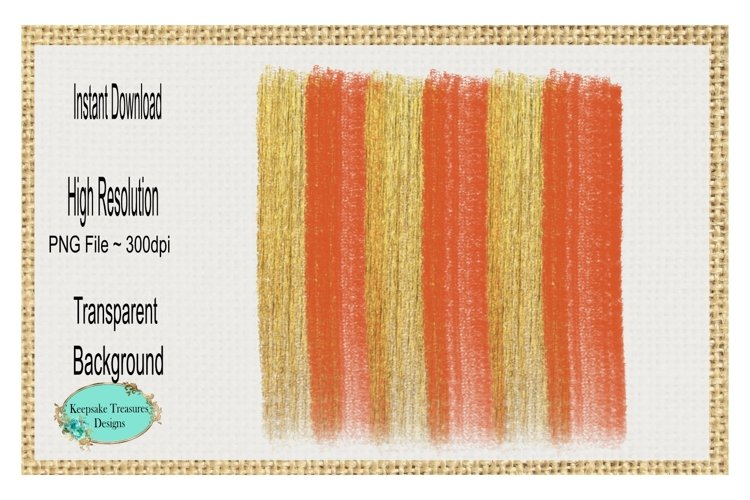 Fall Orange and Gold Brushstrokes example image 1