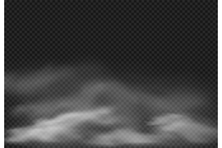 Fog effect. Smoke clouds, cloudy mist and realistic smoky cl example image 1