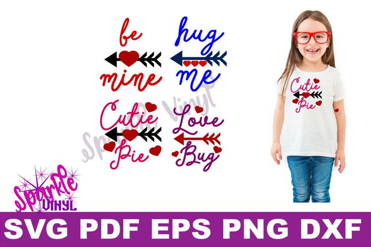 Valentine Shirt Toddler Infant Girl printable or svg bundle cut files for cricut or silhouette, Svg Valentines day svg cut file example image 1