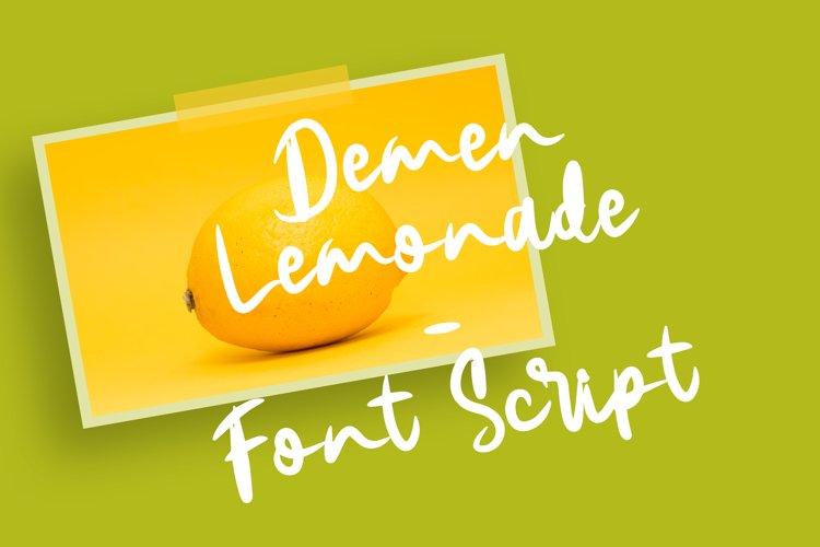 Demen Lemonade v2 Font Script example image 1