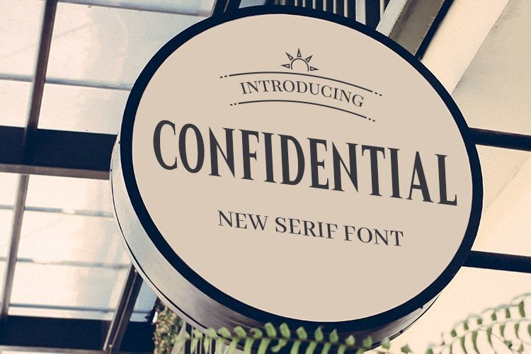 Web Font Confidential example image 1