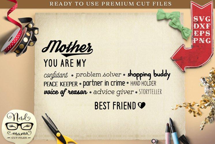 Mother Best Friend SVG Cut File
