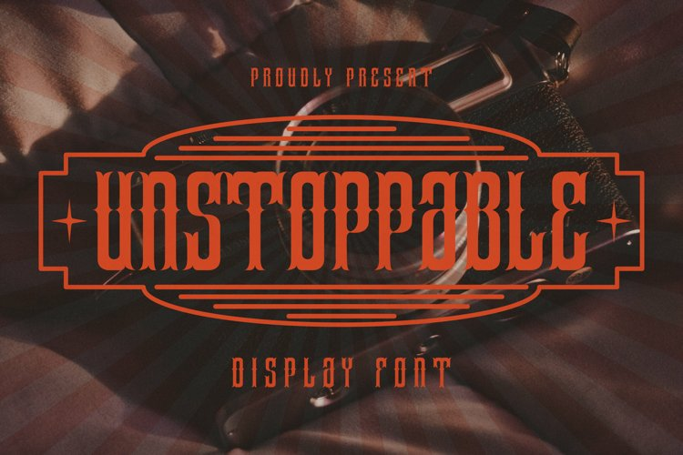 Unstoppable Font example image 1