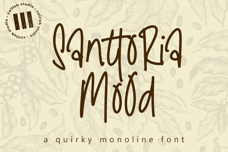 Santtoria Mood - A Quirky Monoline Font example image 1
