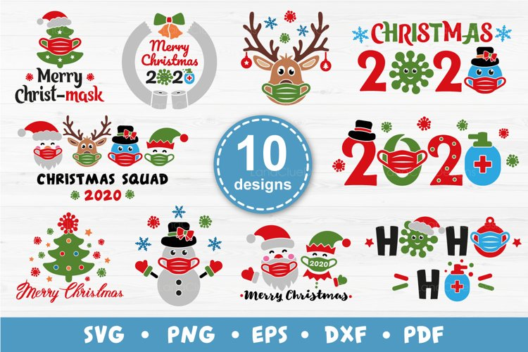 10 Quarantine Christmas Designs Bundle SVG PNG DXF EPS PDF example image 1
