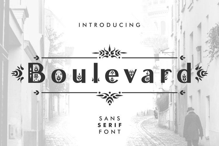 Boulevard - Sans Serif Font example image 1