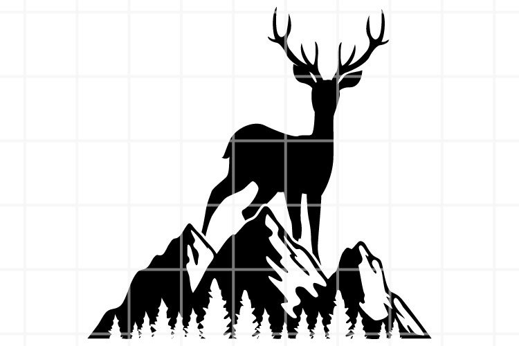 Wildlife SVG. Deer and forest SVG. hunting season cut file. example image 1