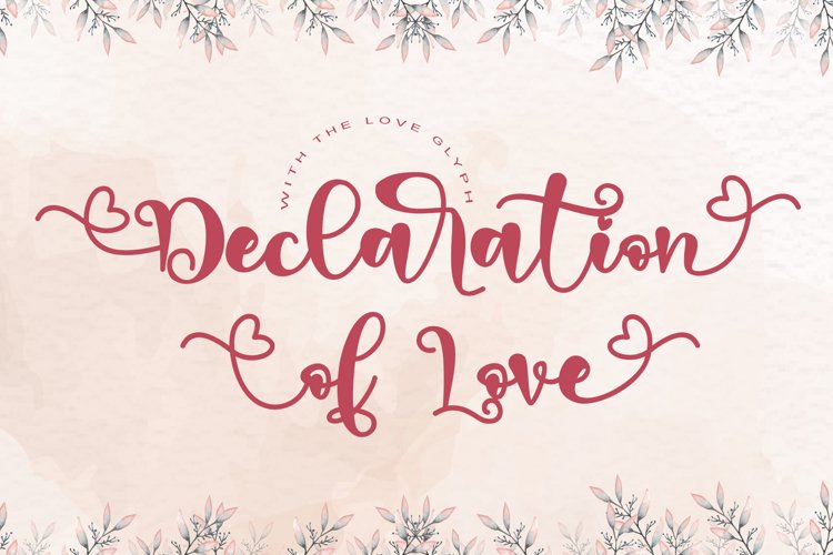 Declaration Of Love example image 1