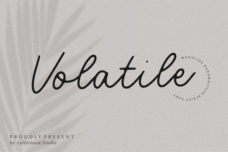 Volatile Monoline Handwritten Script Font
