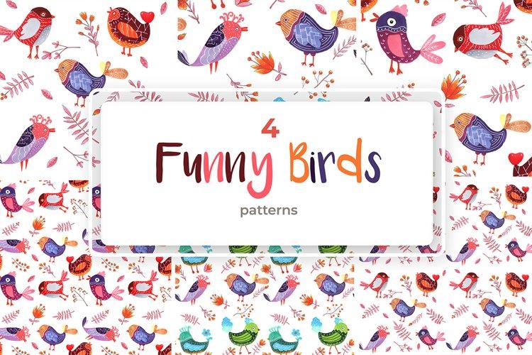 4 Birds Patterns example image 1