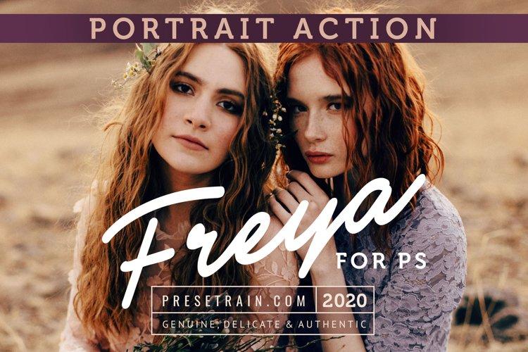 Freya Portrait Action for Photoshop