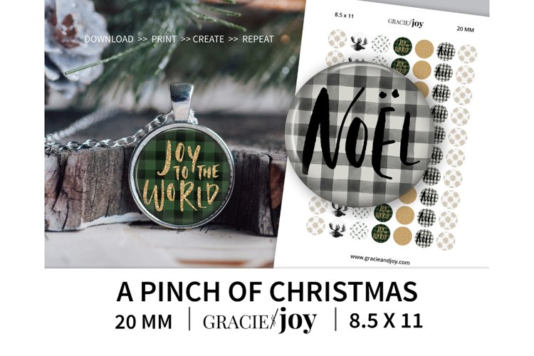 A pinch of Christmas 20 MM digital collage sheet example image 1