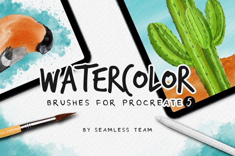 Watercolor brushes for procreate 5