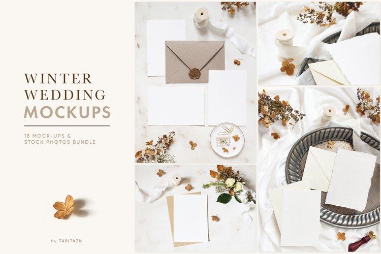 Winter wedding mockups   stock photo bundle