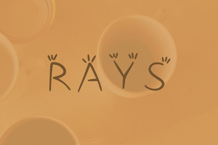 Rays handwritten font example image 1
