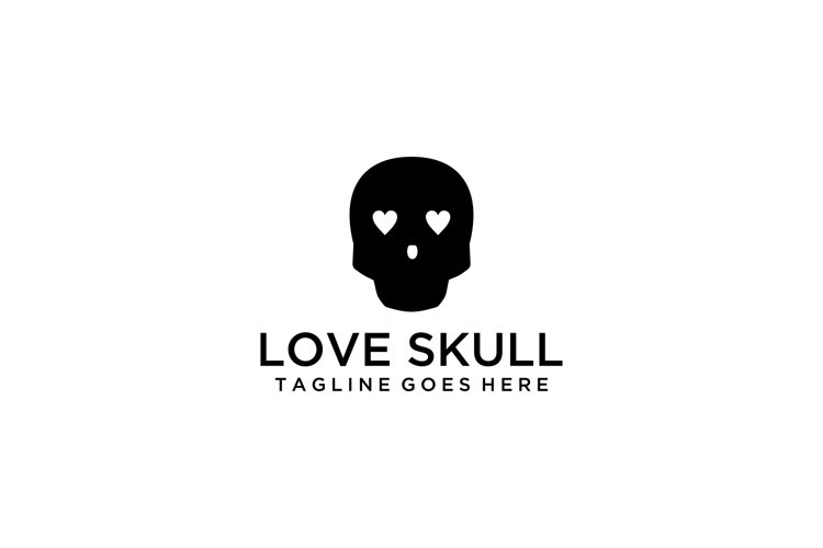 modern love skull sign example image 1