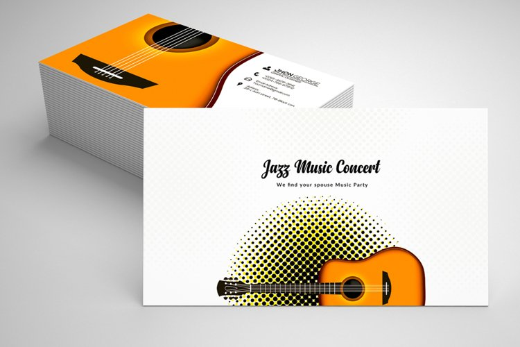 Music Band Business Card Template example image 1