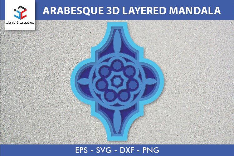 Arabesque 3D Layered Mandala SVG