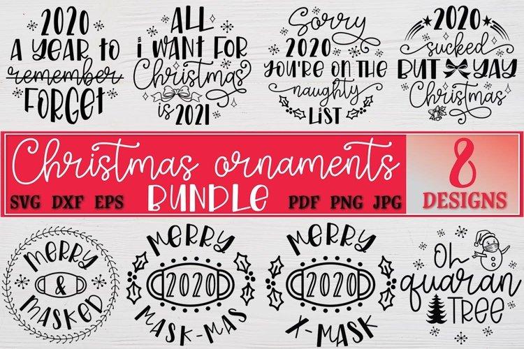 Christmas Ornaments Rounds Bundle SVG 2020 Christmas example image 1