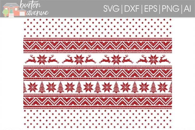 Christmas Sweater Background Cut File - SVG DXF EPS AI PNG example image 1