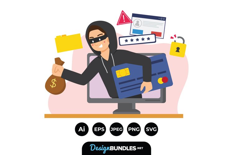 Character Hacking Illustrations example image 1