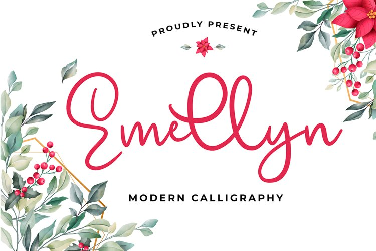 Emellyn Modern Calligraphy Font example image 1