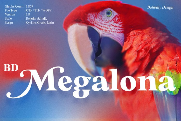 BD Megalona   Serif Font Family example image 1