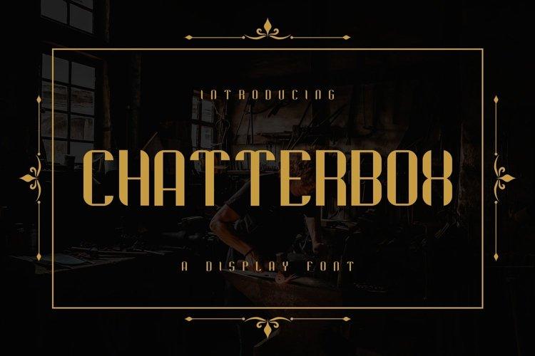 Web Font Chatterbox