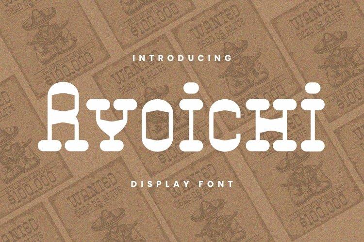 Web Font Ryoichi Font example image 1
