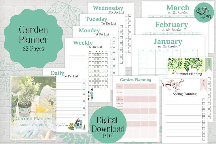 Garden Planner, PDF Printable example image 1