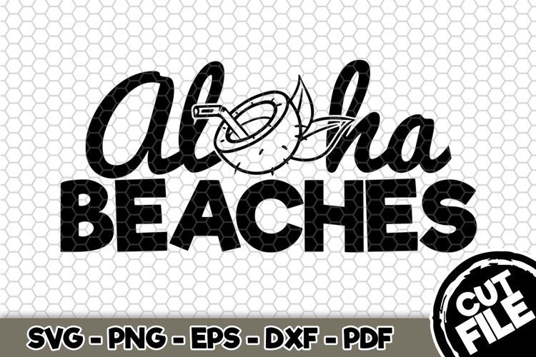 Aloha Beaches - SVG Cut File n223 example image 1