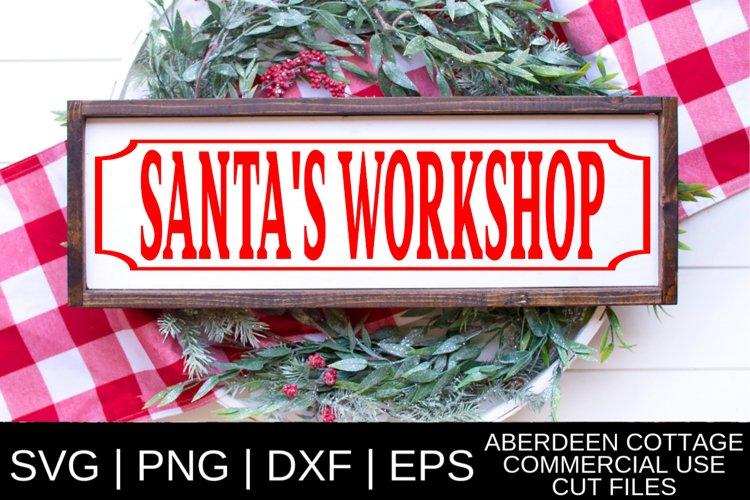 Santa S Workshop Svg Png Dxf Eps 367480 Cut Files Design Bundles