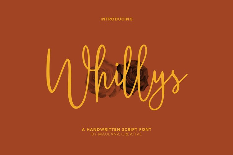 Whillys Script Font example image 1