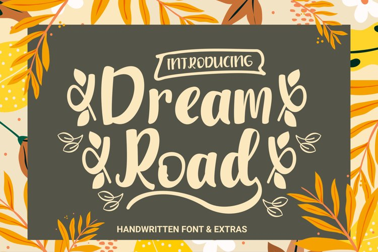 Dream Road Font & Extras example image 1
