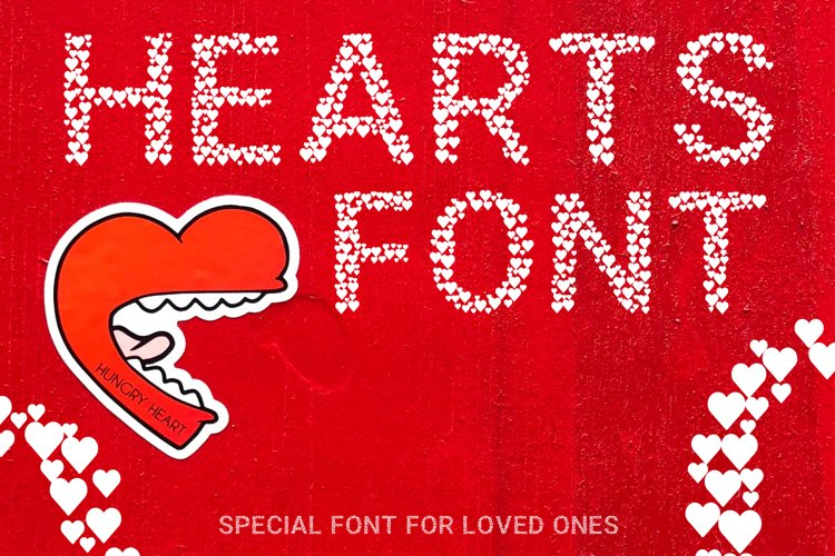 Hearts - A Font Love Story example image 1