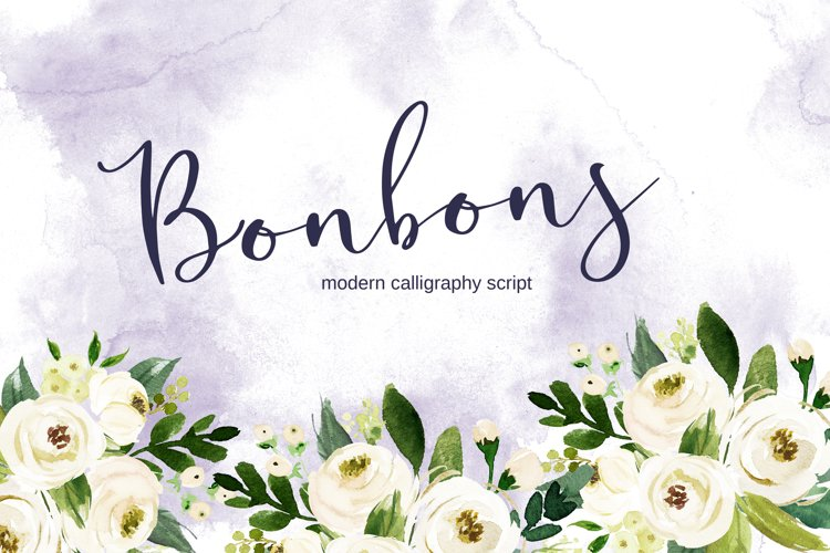 Bonbons -modern calligraphy script font with gold and silve example image 1