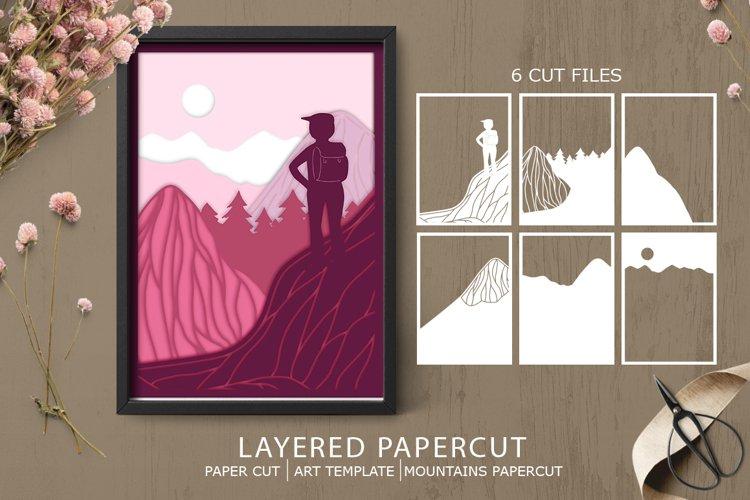 Layered papercut| paper cut|Nature papercut example image 1