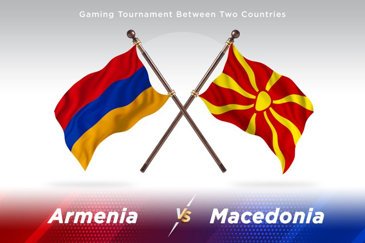 Armenia versus Macedonia Two Flags example image 1