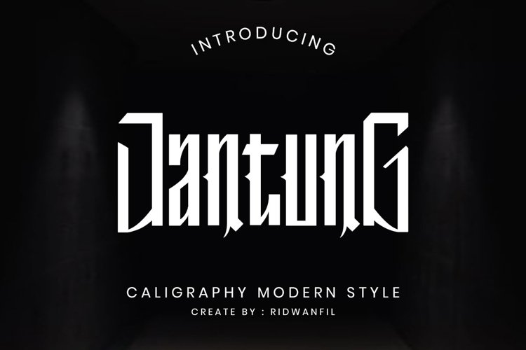 Jantung font - Callighraphy Modern Style