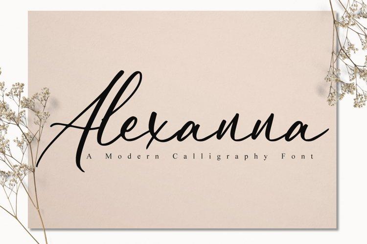 Alexanna Script example image 1