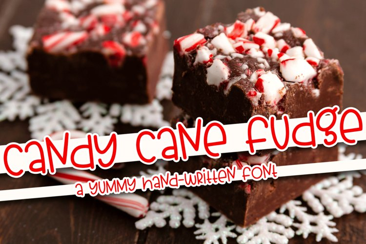 Candy Cane Fudge - A Yummy Hand-Written Font example image 1