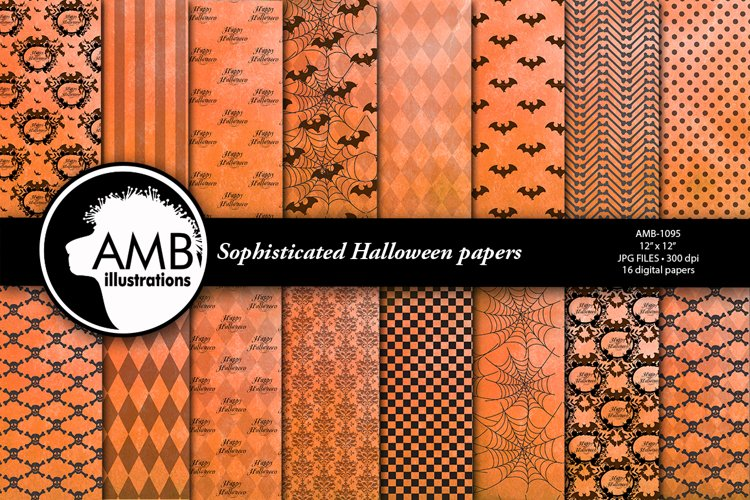 Halloween sophisticated papers AMB-1095 example image 1