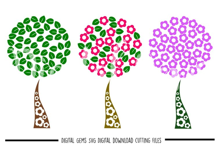 Tree SVG / PNG / EPS / DXF files example image 1