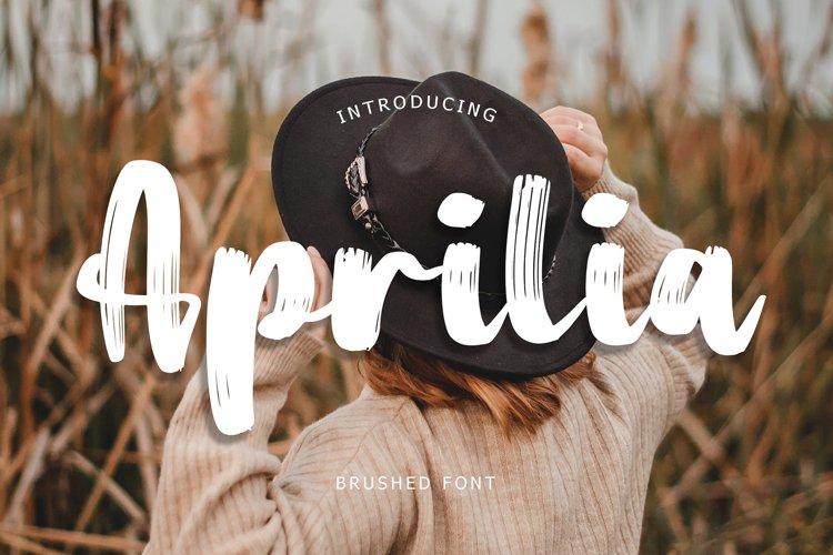 Aprilia Brush Font example image 1